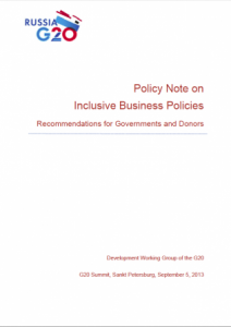 G20 Inclusive Business Framework