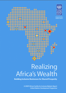 UNDP: Realizing Africa's Wealth: Conceptualized the inclusive business ecosystem, including 4Is: infrastructure, investment, implementation support and information
