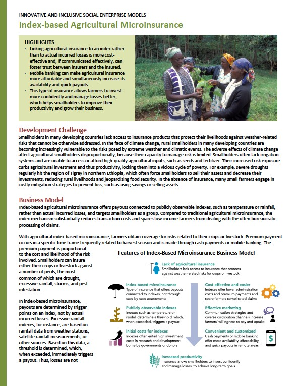 index-based agri microinsurance